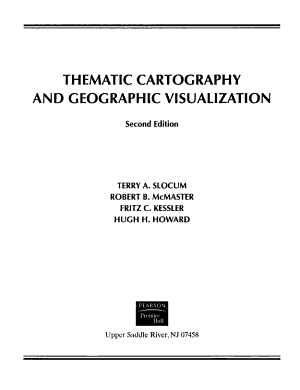 Thematic Cartography and Geographic Visualization PDF