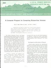 A computer program for computing streamflow volumes