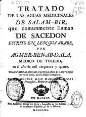 Tratado de las aguas medicinales de Salam-Bir que comunmente llaman de Sacedon