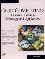 Grid Computing   A Practical Guide to Tech  and App  PDF