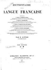 Dictionnaire de la langue francaise: 3: I-P.