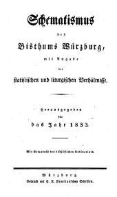 Schematismus der Diözese Würzburg: 1833