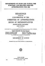 Departments of State, and Justice, the Judiciary, and Related Agencies Appropriations for 1960: Department of State