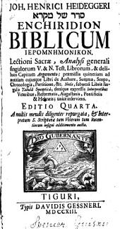 Enchiridion biblicum hieromnemonicon