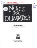 Macs for Dummies PDF