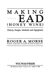 Making Mead  honey Wine  Book