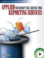Applied Microsoft SQL Server 2008 Reporting Services PDF
