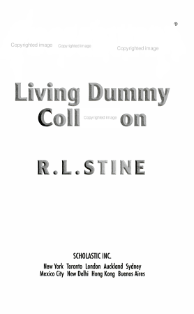 Goosebumps Living Dummy Collection PDF