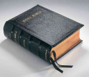 KJV Lectern Bible with Apocrypha, Black Goatskin Leather over Boards KJ986:XBA