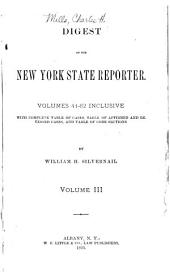 Digest of the New York State Reporter: Volume 3
