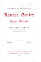 A Genealogical and Heraldic History of the Landed Gentry of Great Britain PDF