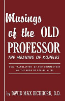 Musings of the Old Professor
