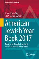 American Jewish Year Book 2017 PDF