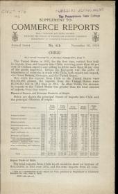 Supplement to Commerce Reports: Daily Consular and Trade Reports Issued by the Bureau of Foreign and Domestic Commerce, Department of Commerce, Volume 18