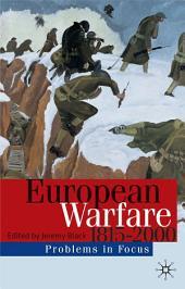 European Warfare 1815-2000