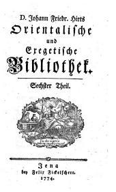 Orientalische und exegetische Bibliothek: Teil 6