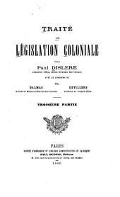 Traité de législation coloniale: Volume2