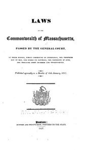 The Laws of the Commonwealth of Massachusetts: Volume 10