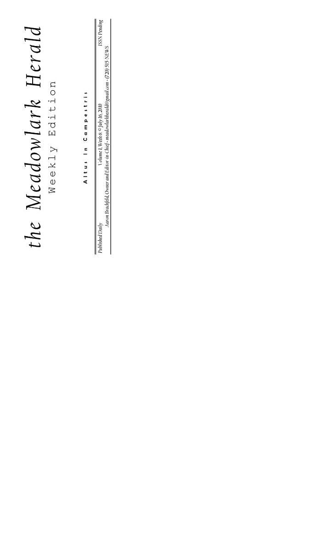 the Meadowlark Herald: Volume 1 Issue 25 - 29