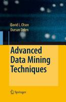 Advanced Data Mining Techniques PDF