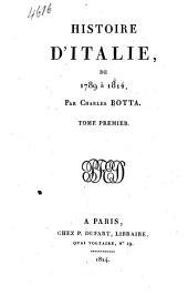 Histoire d'Italie, de 1789 à 1814: Volume1
