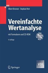 Vereinfachte Wertanalyse: mit Formularen und CD-ROM, Ausgabe 4
