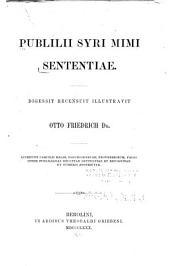 Publilii Syri mimi Sententiae