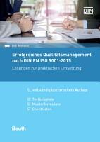 Erfolgreiches Qualit  tsmanagement nach DIN EN ISO 9001 2015 PDF
