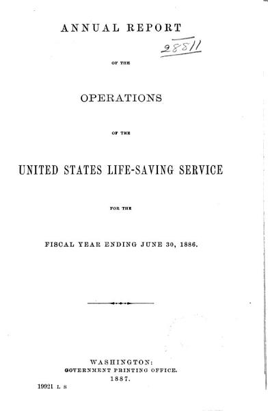 Annual Report of the United States Life Saving Service       1876 1814 PDF