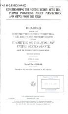 Reauthorizing the Voting Rights Act s Temporary Provisions PDF
