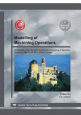 Modelling of Machining Operations PDF