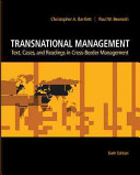 Transnational Management  Text  Cases   Readings in Cross Border Management PDF