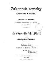 Gesetz und Verordnungsblatt f  r das K  nigreich B  hmen PDF