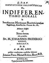 Disp. philos. de indifferentismo morali