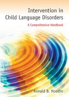 Intervention in Child Language Disorders PDF