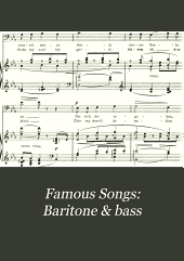 Famous Songs: Baritone & bass