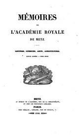 Mémoires de l'Académie royale de Metz
