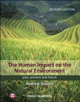 The Human Impact on the Natural Environment PDF