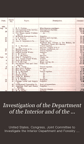 Investigation of the Department of the Interior and of the Bureau of Forestry: Hearings Held Before the Joint Committee of Congress Relative to the Investigation of the Department of the Interior and Its Several Bureaus, Officers, and Employees, and of the Bureau of Forestry, in the Department of Agriculture, and Its Officers and Employees, Volume 3