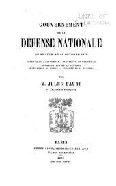 Gouvernement de la défense nationale ...