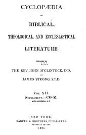 Cyclopaedia of Biblical, Theological and Ecclesiastical Literature: Volume 12