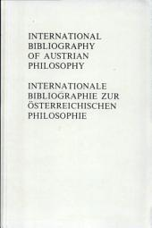 International bibliography of Austrian philosophy