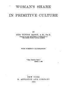 Woman s Share in Primitive Culture PDF