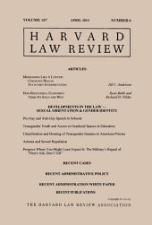 Harvard Law Review: Volume 127, Number 6 - April 2014