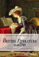 British Literature 1640 1789 PDF