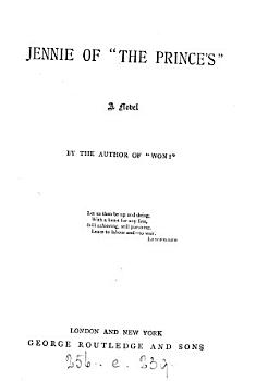 Jennie of  the Prince s   by B H  Buxton   by the author of  Won   PDF