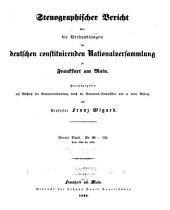Stenographischer Bericht über die Verhandlungen der Deutschen consituirenden Nationslversammlung zu Frankfurt am Main: Band 4