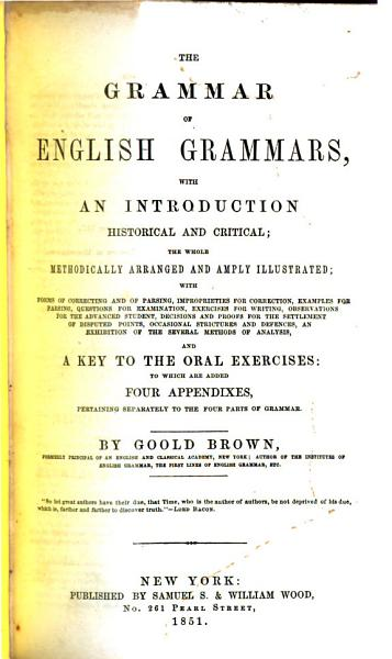 The Grammar of English Grammars PDF