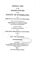 General View of the Agriculture of the County of Sutherland     PDF