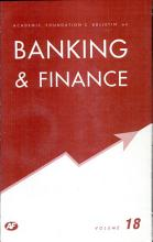 Academic Foundation S Bulletin On Banking And Finance Volume  18 PDF